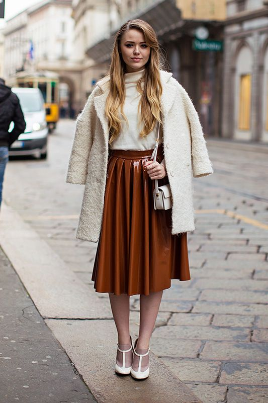 Modest Brown Pleated Skirt