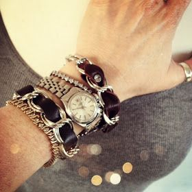 WobiSobi: Leather and Chain Bracelet, DIY
