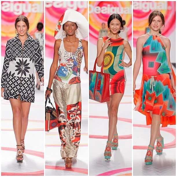 Looks of the Desigual Catwalk at the New York Fashion Week