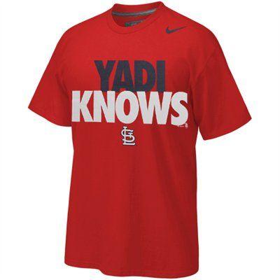 promo code 65de4 39146 St. Louis Cardinals ''Yadi Knows'' Yadier Molina T-Shirt ...