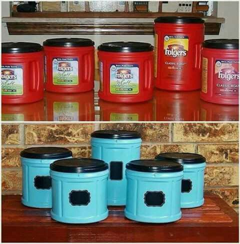 Adorable Easy Homemade Canister Set Painting Plastic Craft Room Diy Projects
