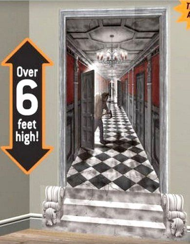 6 gothic hallway terror scene setter haunted mansion halloween prop decoration