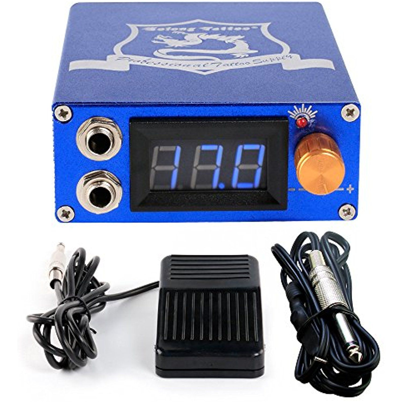 Blackseal new tattoo power supply digital lcd display blue