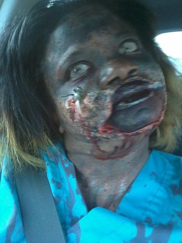 Self Zombie Makeup