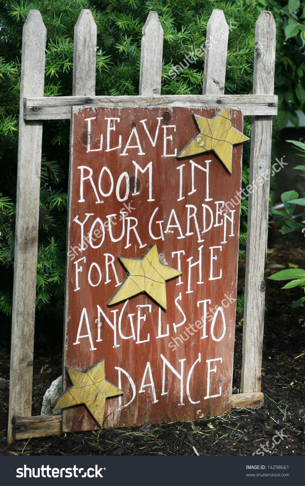 leave room in your garden for angels to dance sign - Google Search ...