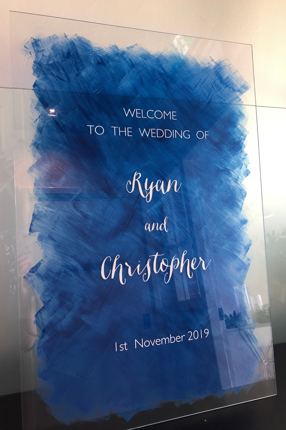 Acrylic Signs with Blue Wash in 2020 Event styling