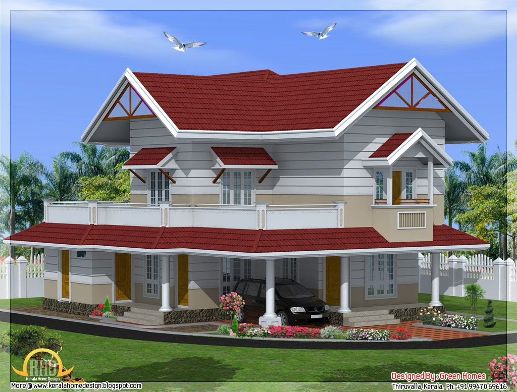 4 Bedroom Kerala Style House Elevation Design 2847 Sq Ft Home Inspiration  Pinterest House Elevation Bedrooms