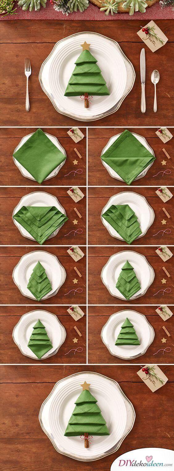 Sie werden Ihre Gäste mit diesen DIY Tischdekorationsideen für Weihnachten verzaubern!