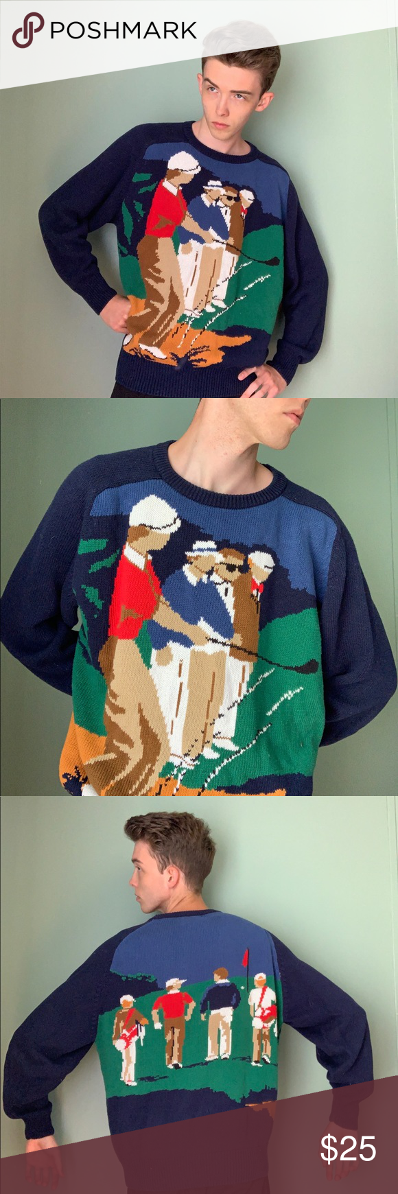 Sold Vintage sweaters, Golf sweaters, Sweaters crewneck