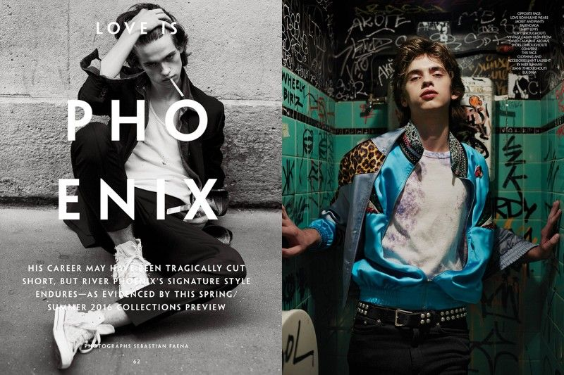 Model Love Rönnlund channels the spirit of River Phoenix for the pages of CR Men's Book.
