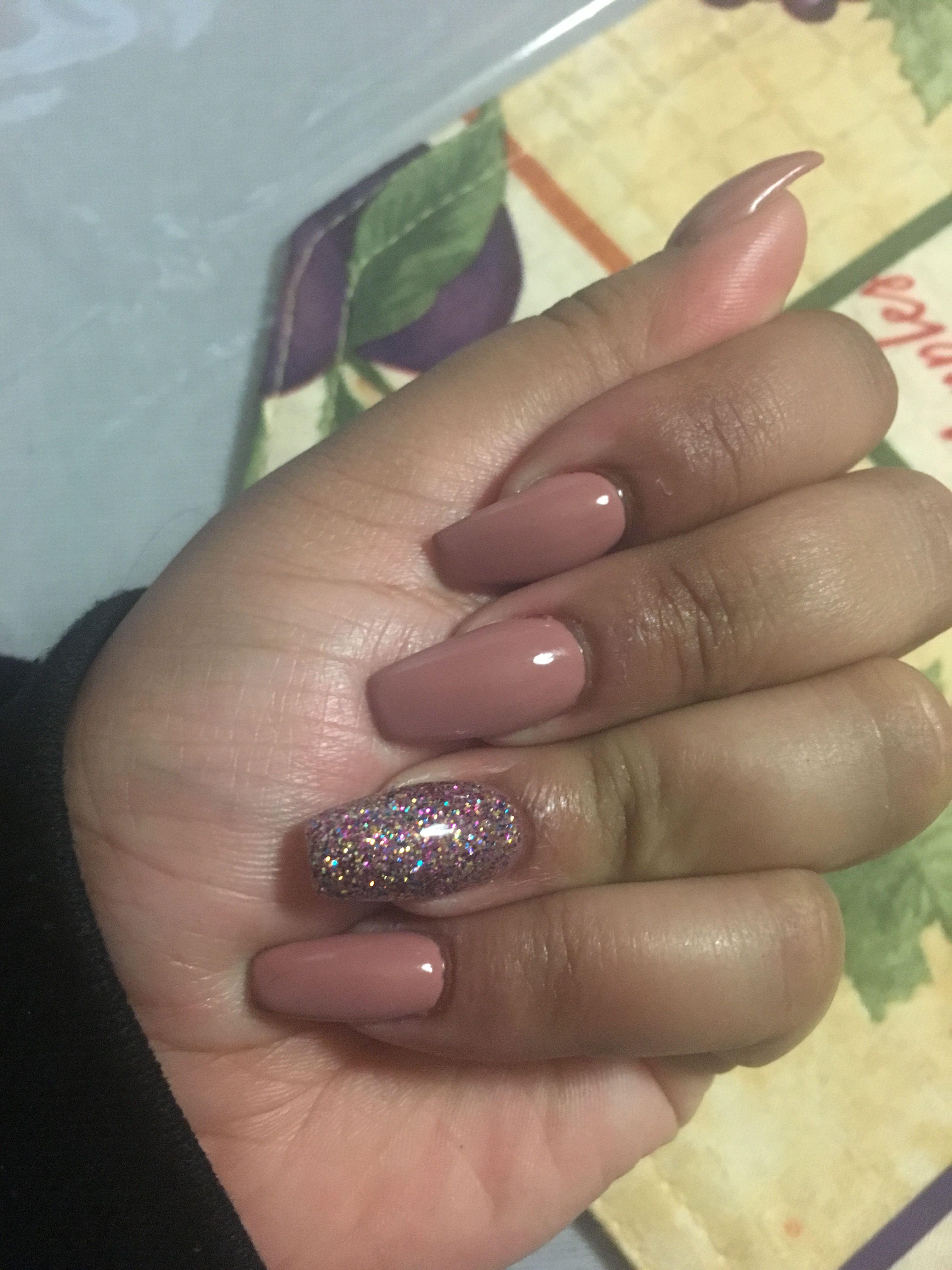 Coffin shape nails - gel | Nails | Pinterest