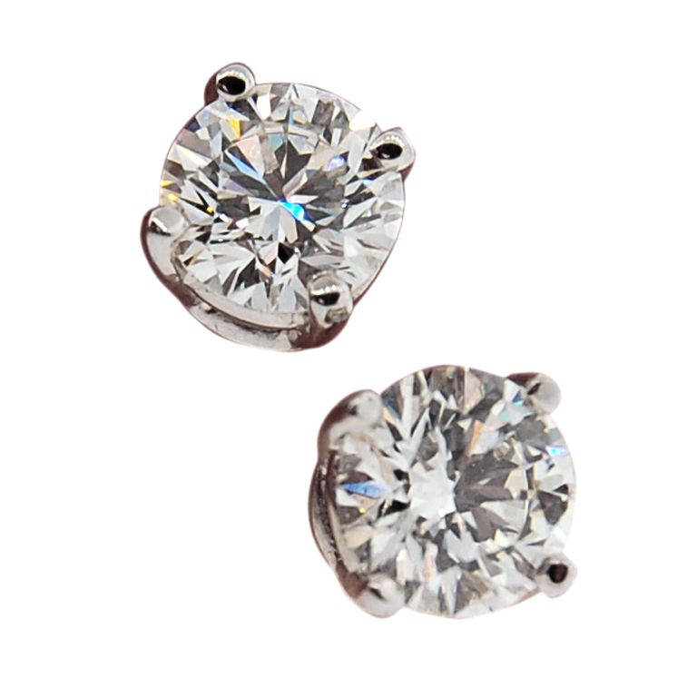 f4e14c7ba TIFFANY & CO. Platinum 2 Carat Diamond Stud Earrings I REALLY WANT THESE!