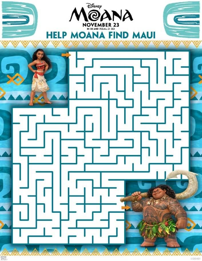 Printable Moana Activity Sheets - Free to Download and Print from ...