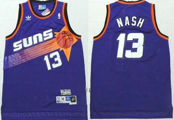 38b5e9428dd Men s Phoenix Suns  13 Steve Nash Purple Hardwood Classics Soul Swingman Throwback  Jersey