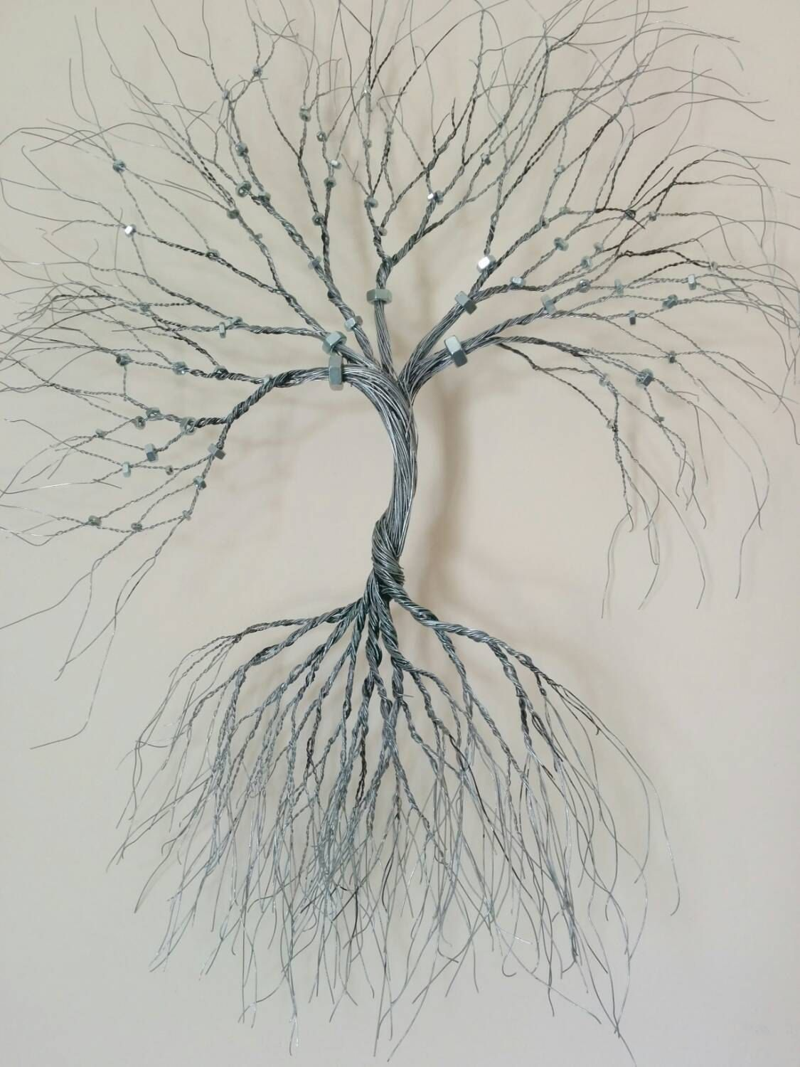 Silver Wire Wall Art Tree Of Life Wall By WireArtbyCatherine
