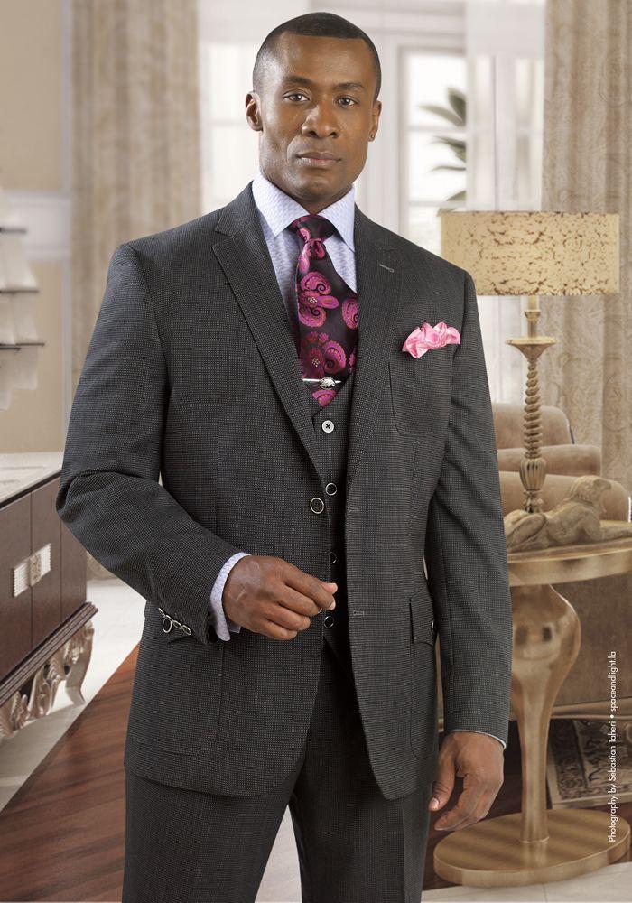 Tayion Black 3 Piece Wool Fashion Suit Kresge 035 Well Dressed Men Mens Fashion Suits Mens Fashion Wear