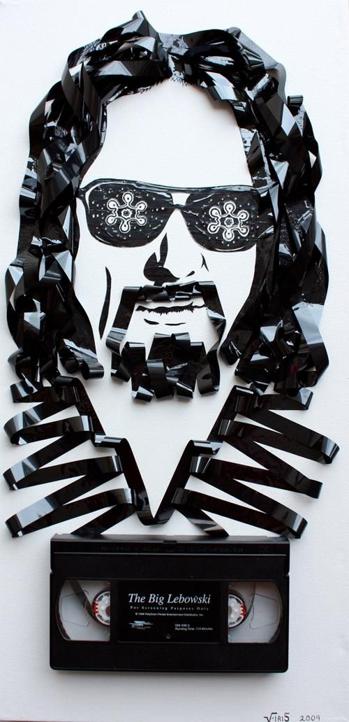 Vhs And Cassette Tape Art Representations Cassette Tape Art The Big Lebowski Tape Art
