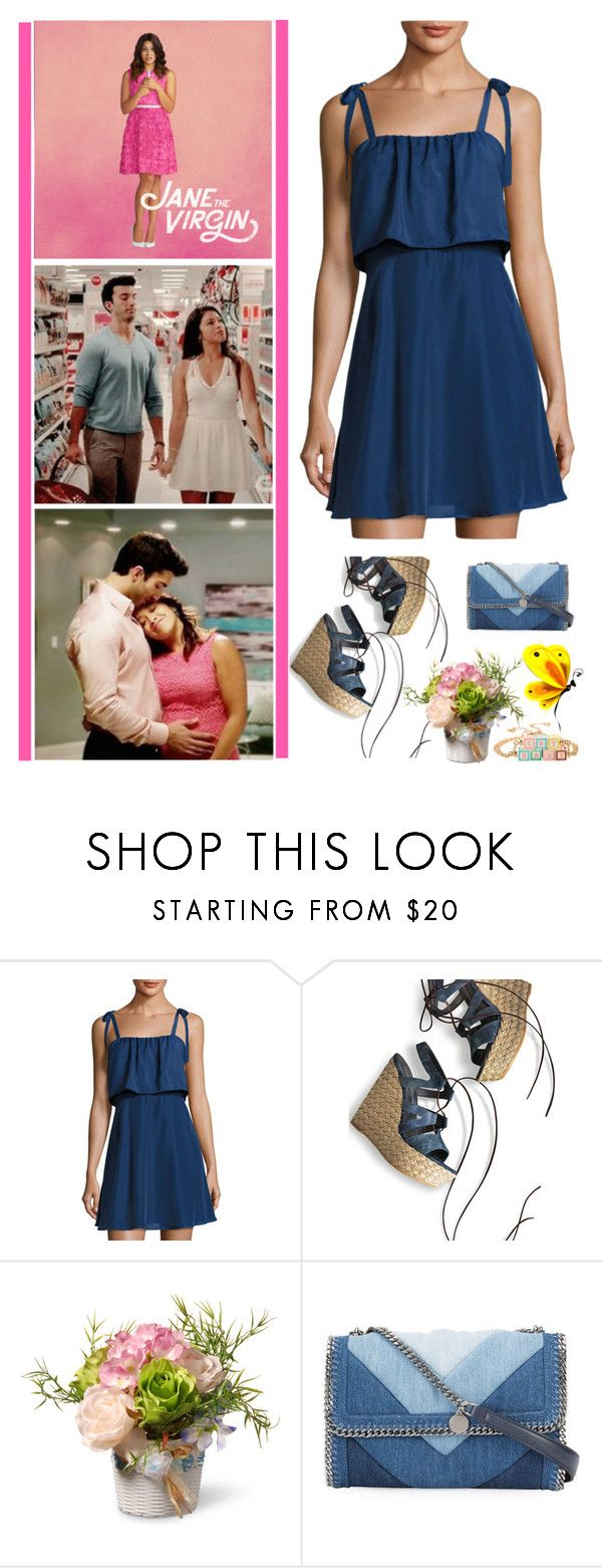 """""""Jane The Virgin"""" by fashionqueen76 ❤ liked on Polyvore featuring Parker, Stuart Weitzman, National Tree Company, STELLA McCARTNEY and Hot Topic"""