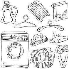 Laundromat Illustrations Vector Images Laundry Art Sketch Notes Clip Art