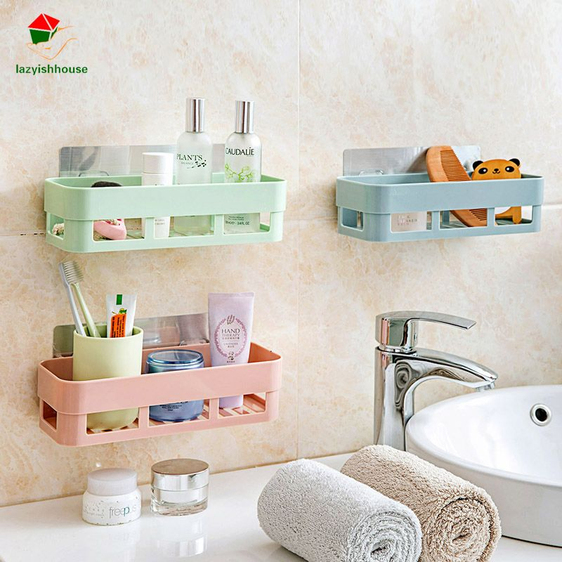 Multifunctional Plastic Bathroom Shelf Adhesive Decorative Wall Fascinating Decorative Kitchen Shelves Design Inspiration