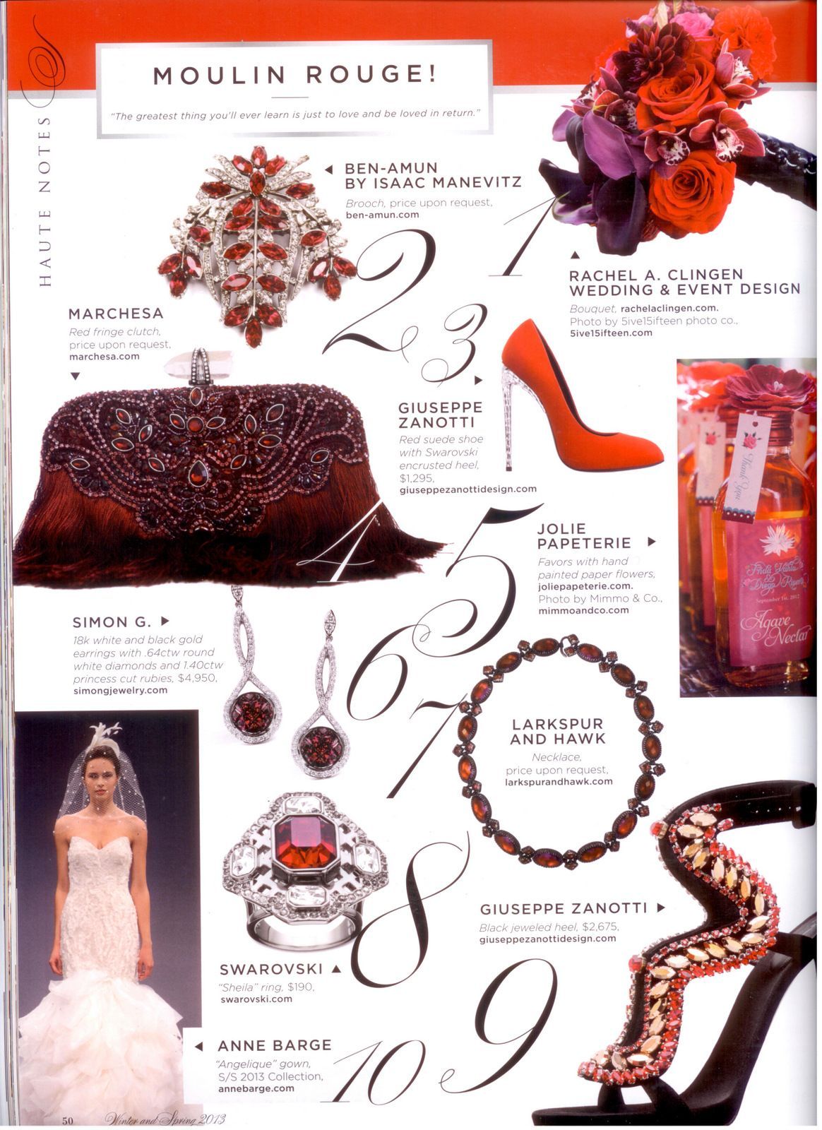 Moulin Rouge wedding inspiration  In the Press