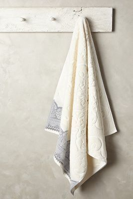 Anthropologie Scrollwork Towel Collection #anthrofave