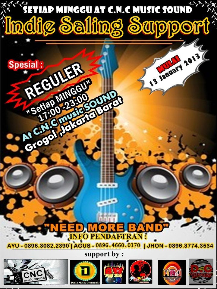 "-"" INDIE SALING SUPPORT ""- CNC Music Sound #REGULER Every Sunday"