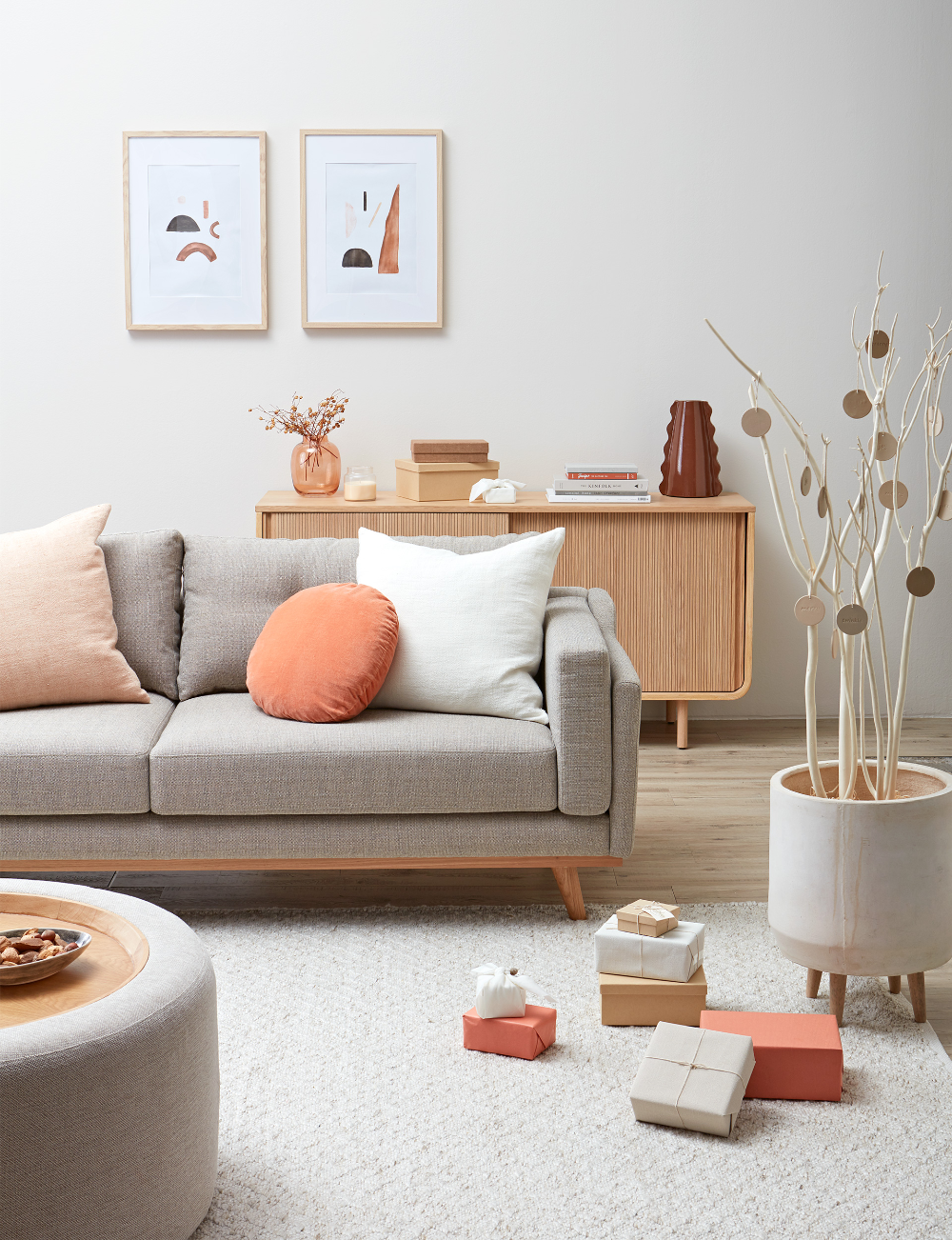 Here's how you can shop the peach Scandi Christmas style
