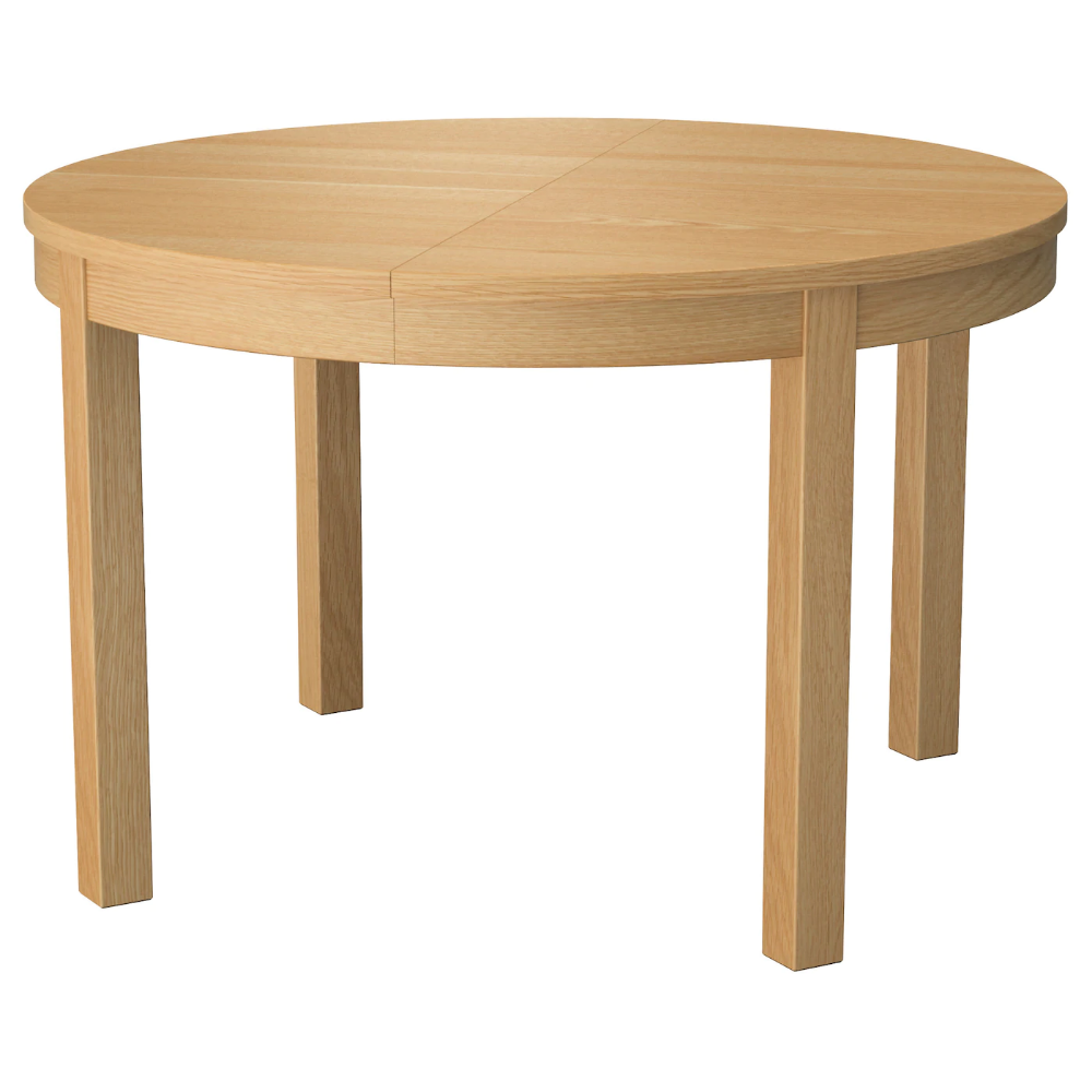 Ikea Bjursta Extendable Table Oak Veneer Extendable Dining Table With 1 Extra Leaf Seats 4 6 M Ikea Extendable Table Extendable Dining Table Dining Table
