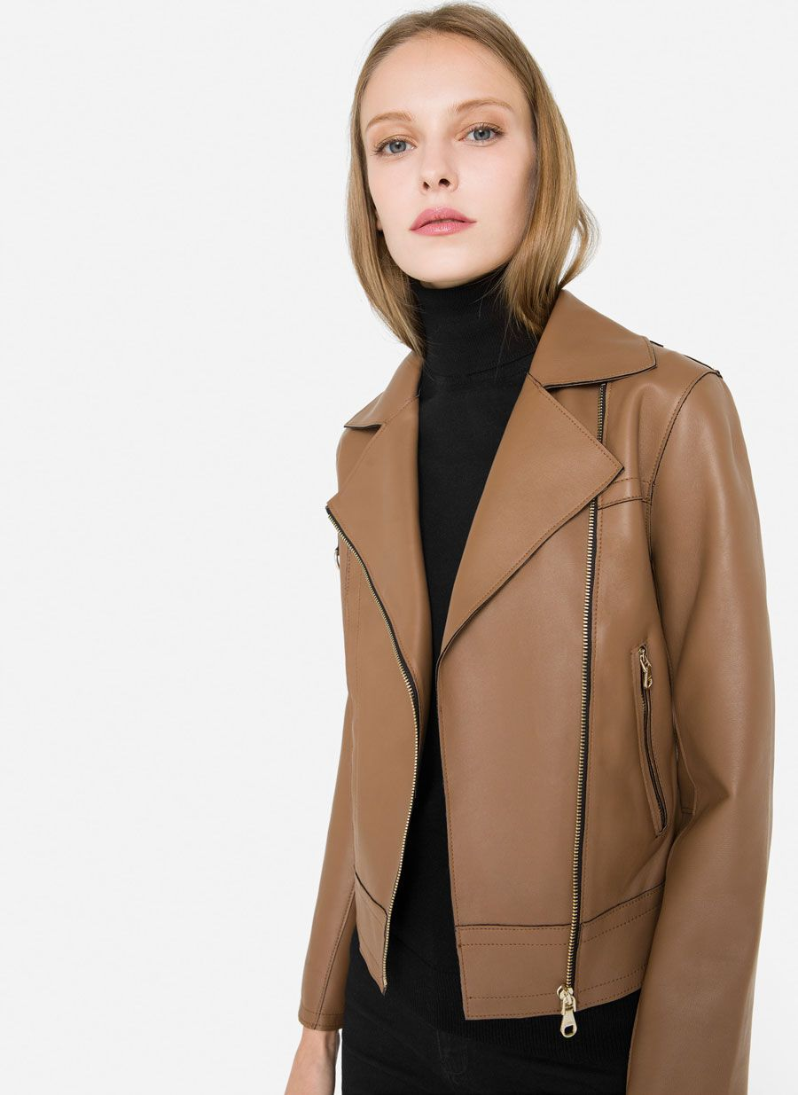 Nappa Leather Jacket View All New In Uterque United Kingdom [ 1235 x 900 Pixel ]