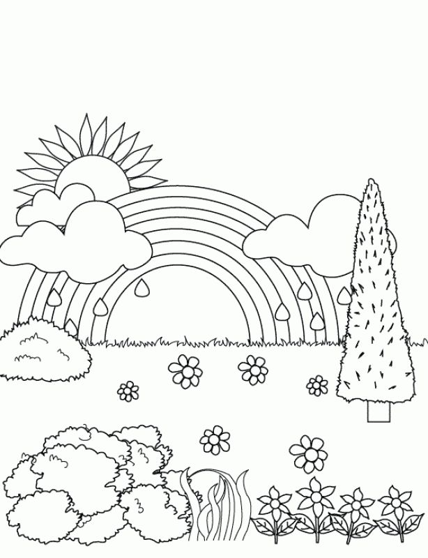 rainbow spring coloring pages for kids fun coloring pages