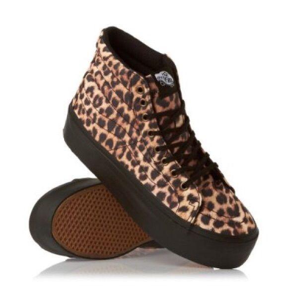 Platform Cheetah Sk8-Hi Vans | Shoes