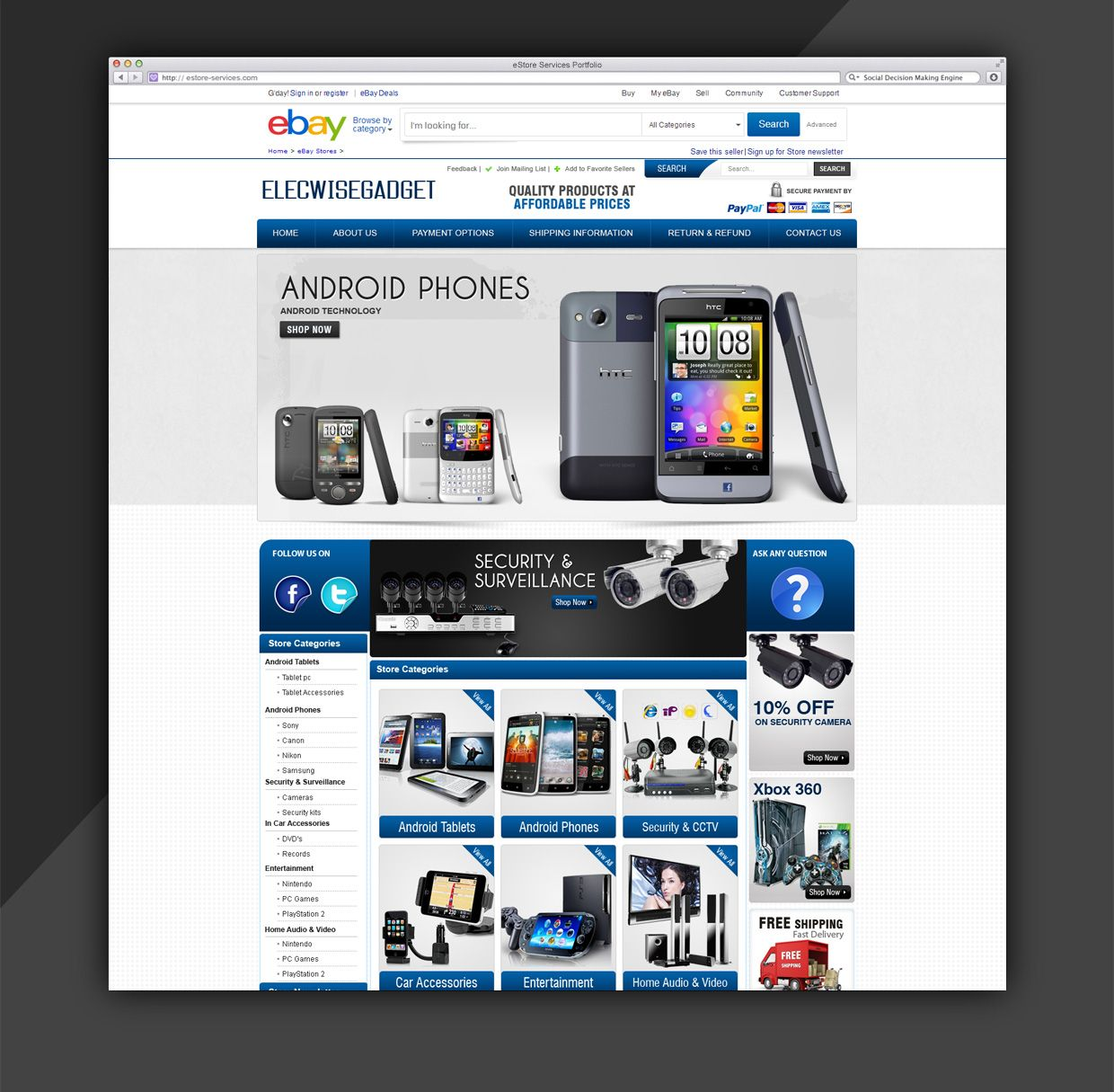 Admirable Custom ebay Store and Listing Template for ELECWISEGADGET ...