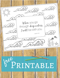 when you go through deep waters i will be with you isaiah - Isaiah Coloring Pages For Kids
