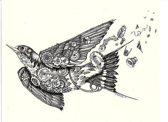 Pics For Steampunk Bird Tattoo Steampunk Bird Steampunk Tattoo Birds Tattoo