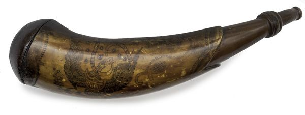 Tansel Engraved Power Horn (5/1/2013 - Firearms and Militaria)