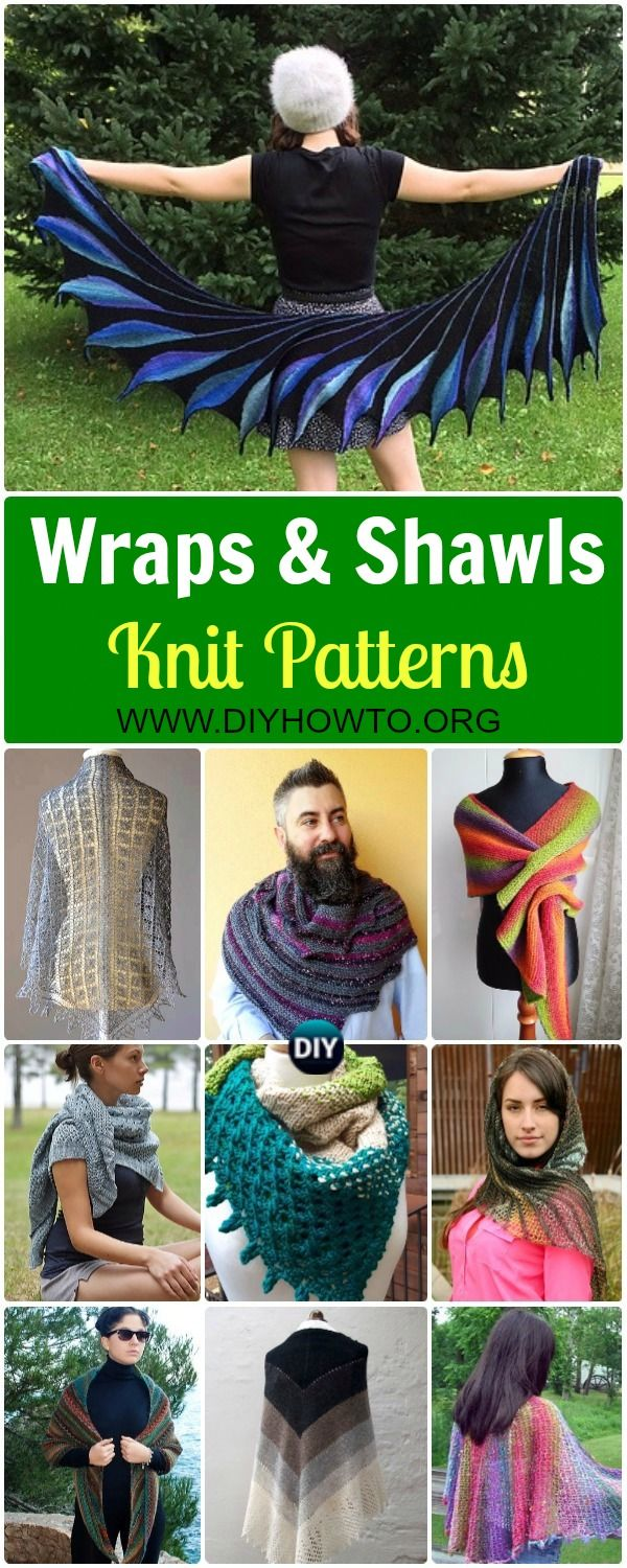 Collection of Knit Wrap & Shawl Patterns: Most Free Patterns. Autumn ...
