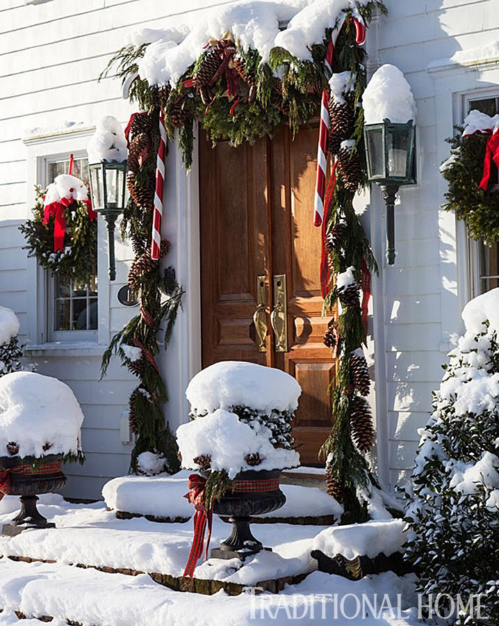 Christmas in a New England Clapboard Classic christmas