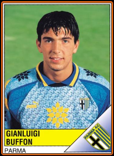 Old School Panini Gianluigi Buffon Football Stickers Vintage Football Football