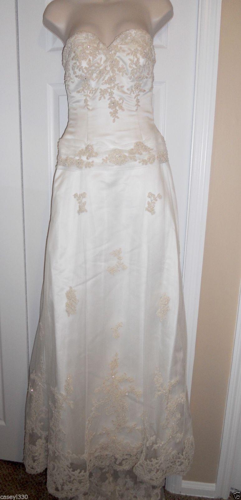 Zelda wedding dress  Awesome Amazing DINEHuS IVORY CHAMPAGNE LACE SIZE  WEDDING DRESS