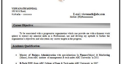 Mba Finance  Marketing Resume Sample In Word Doc  Resume