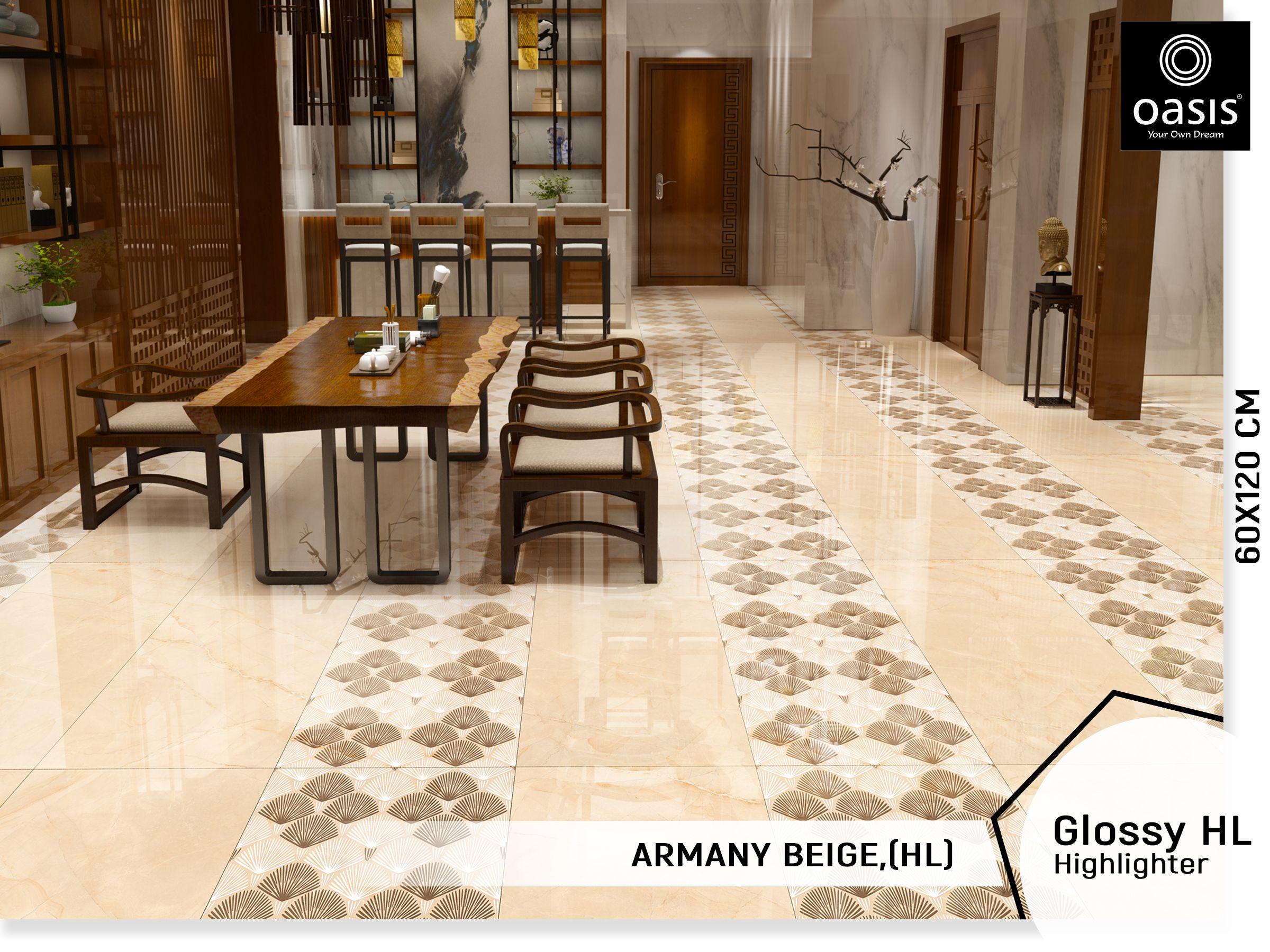 Glossy Highlighter Armany Beige 60 120 Cms Wall Tiles Design Tile Design Ceramic Floor