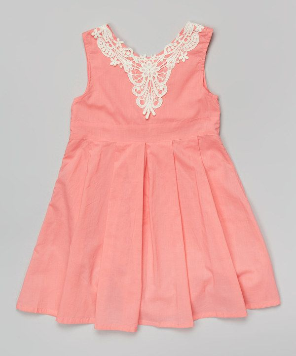 865fddf918e Watermelon Lace Pleated A-Line Dress - Toddler   Girls by Paulinie   zulilyfinds