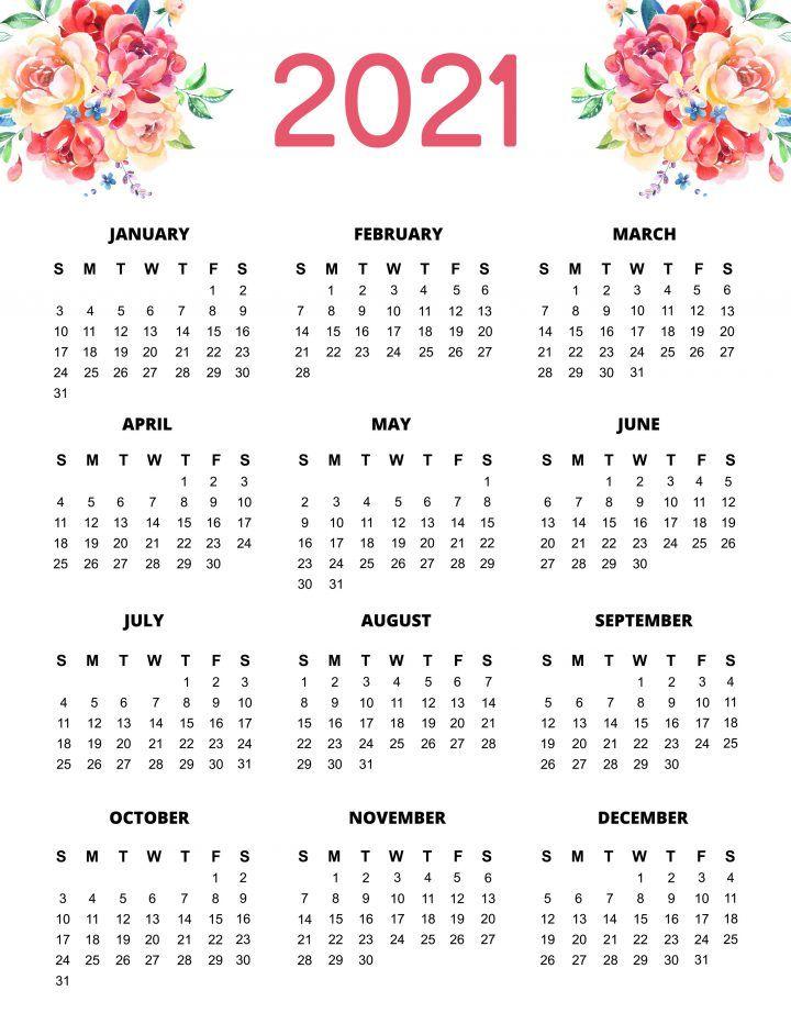 Free Printable 2021 Planner 50 Plus Printable Pages