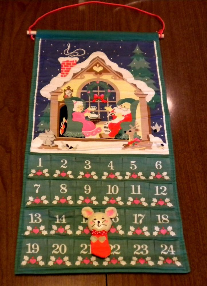 Vintage Avon Advent Calendar Countdown Christmas 1987 With Mouse Original Bag Advent Calendar Original Bags Vintage Avon
