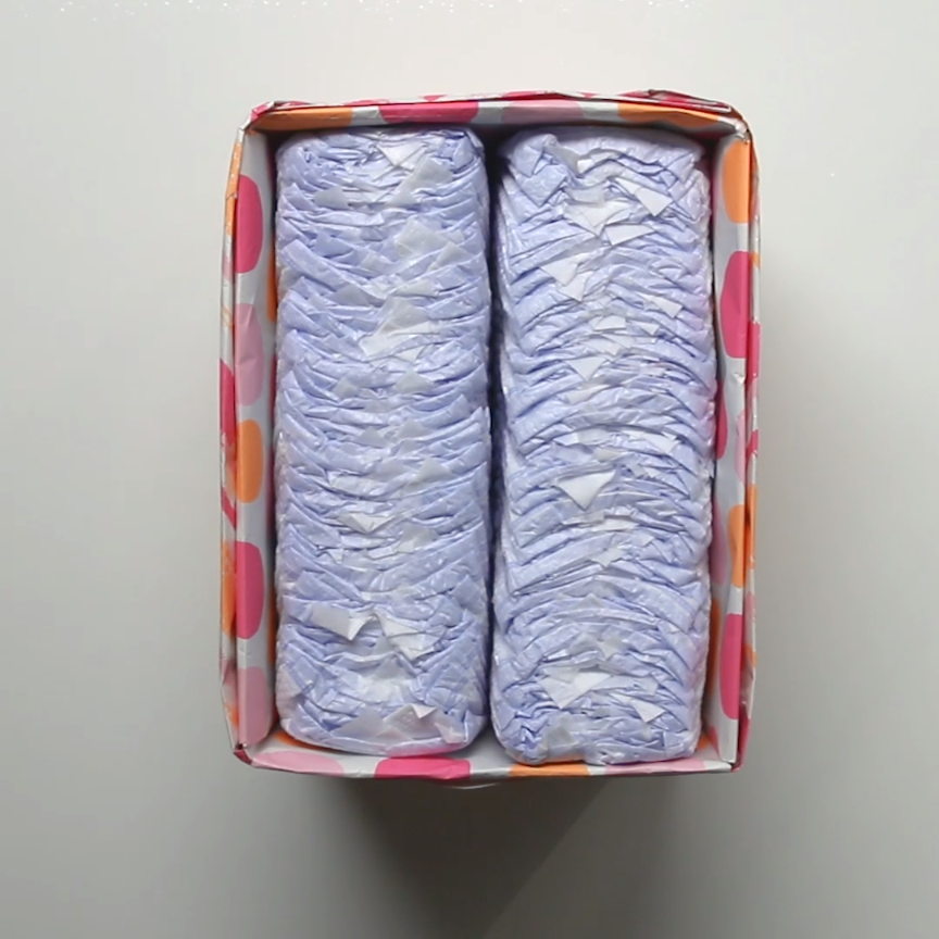 Upcycle Diaper Boxes // #diapers #babies #recycle #hacks #Nifty ...