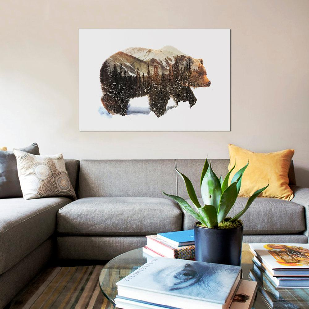 Icanvas 12 In X 8 In Arctic Grizzly Bear By Andreas Lie Printed Canvas Wall Art Giclee Canvas Prints Wall Art Canvas Wall Art