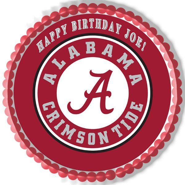 Alabama Crimson Tide University Edible Cake Topper Cupcake