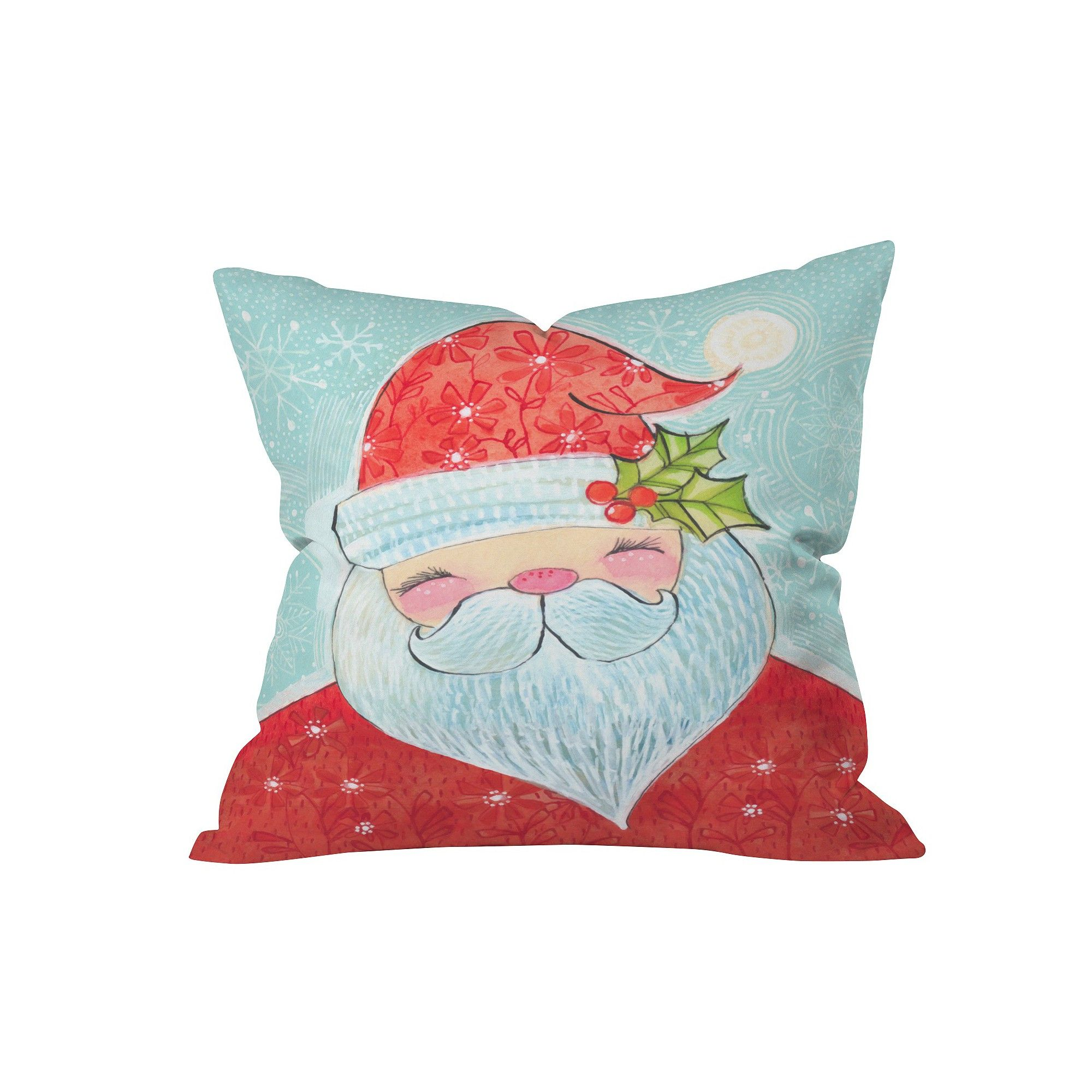 "Red Novelty Cori Dantini Sweet Santa Throw Pillow (20""x20"