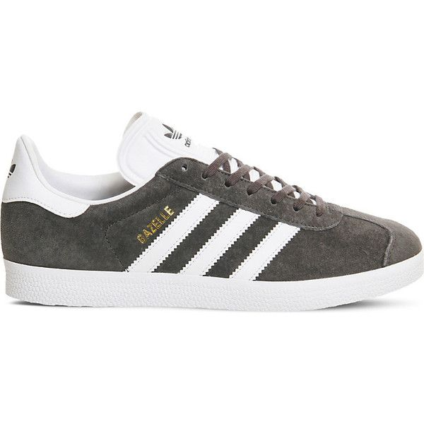 Adidas Gazelle suede trainers ($77) ❤ liked on Polyvore featuring shoes, sneakers, adidas sneakers, suede trainers, sport shoes, adidas and adidas footwear